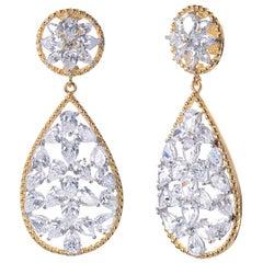 Bijoux Num Stunning Pear Shape CZ sterling silver Drop Earrings