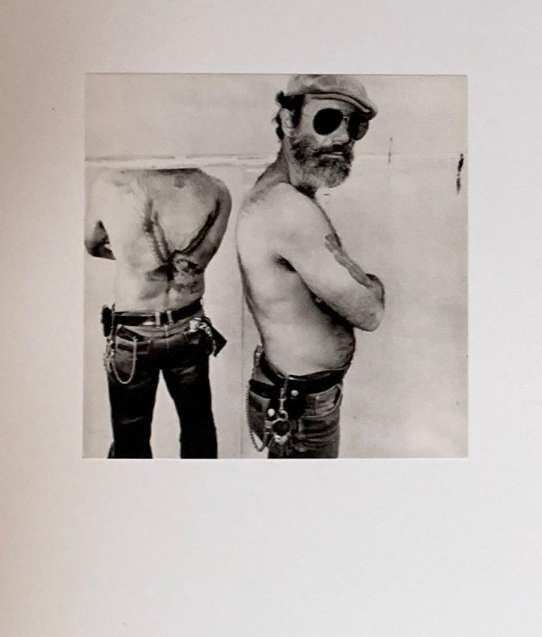 American Biker in a Mirror Black and White Photograph Gravure Print by Burk Uzzle, 1980 For Sale