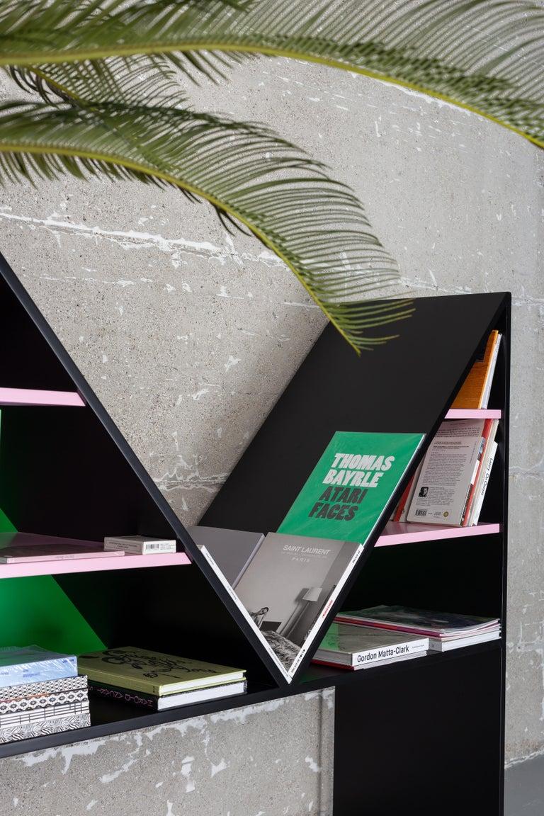 Contemporary Bookcase Bikini White Lacquered Wood by Chapel Petrassi For Sale 2