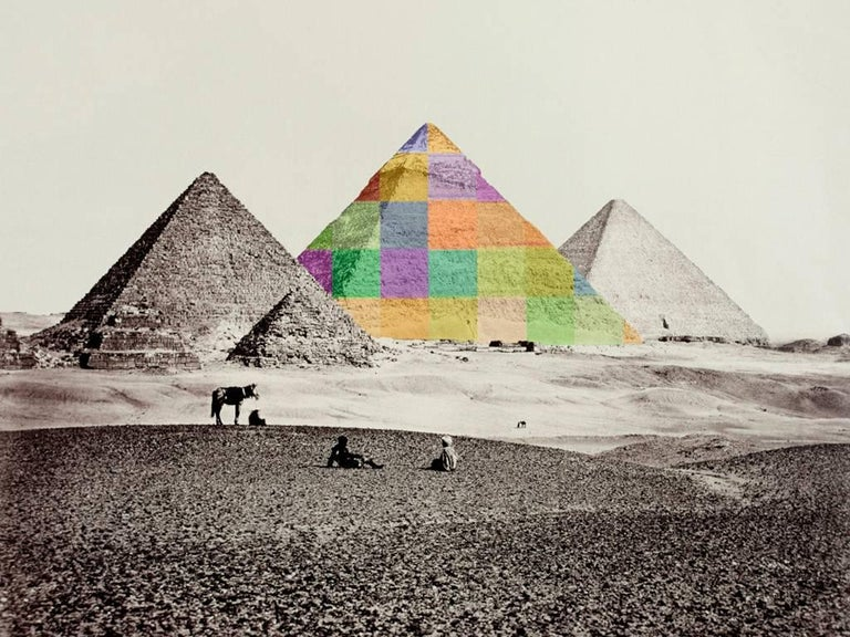 Bill Armstrong Color Photograph - After Francis Frith, Pyramid I