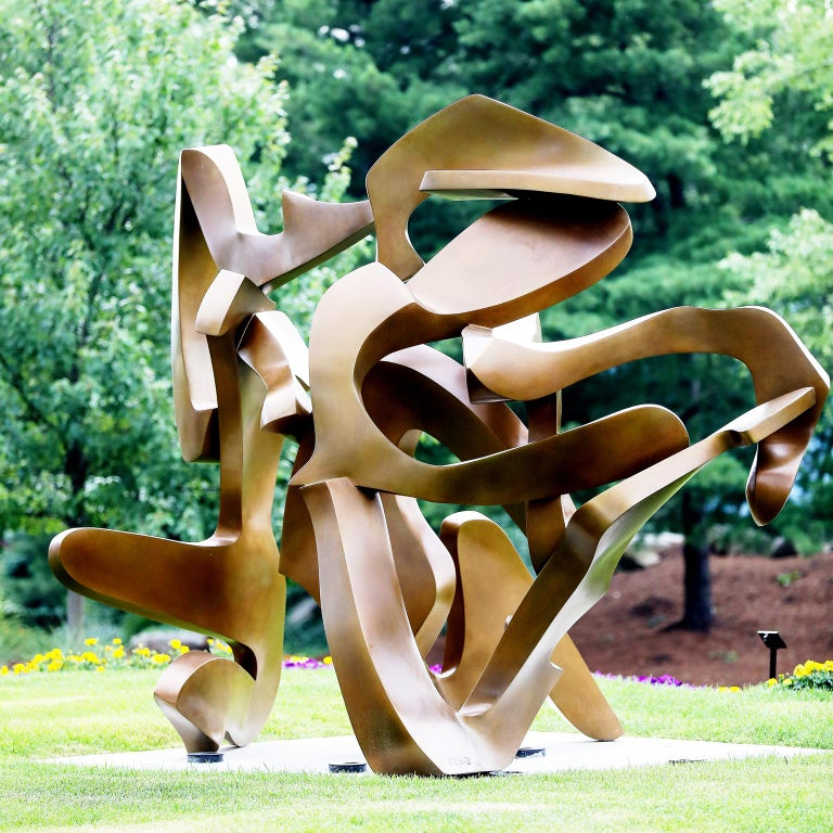 """""""Action Abstraction"""" by Bill Barrett Fabricated bronze  Bill Barrett is considered a central figure in the second generation of American metal sculptors and is internationally known for his abstract sculptures in steel, aluminum and bronze.  Bronze,"""