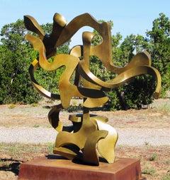 """""""Aria DNA 5"""", Abstract, Bronze Metal Sculpture by Bill Barrett"""