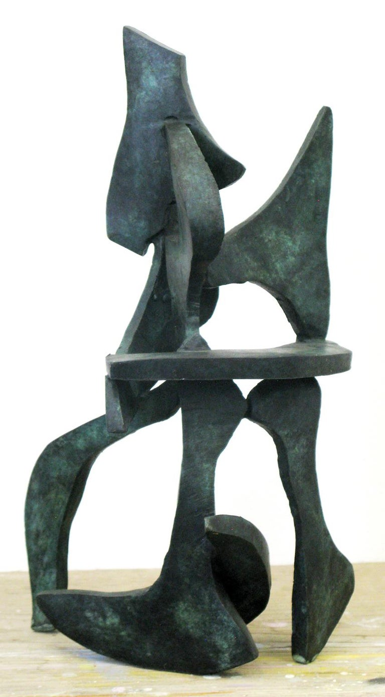 """""""Lyra Series 27"""" by Bill Barrett Cast bronze  Bill Barrett is considered a central figure in the second generation of American metal sculptors and is internationally known for his abstract sculptures in steel, aluminum and bronze.  Bronze, Patina,"""