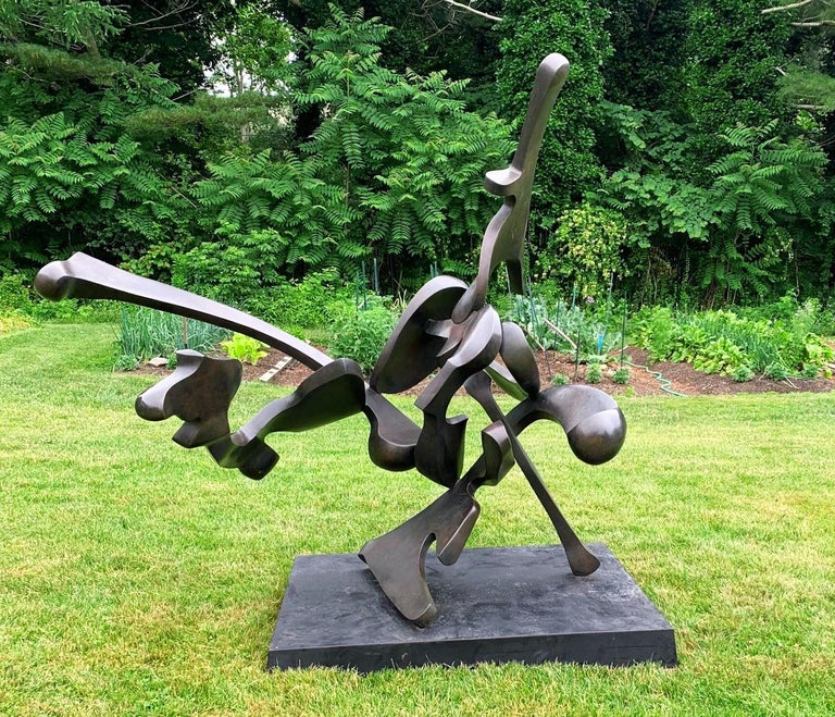 """""""Muskateer"""" by Bill Barrett Abstract metal sculpture, unique bronze  Bill Barrett is considered a central figure in the second generation of American metal sculptors and is internationally known for his abstract sculptures in steel, aluminum and"""