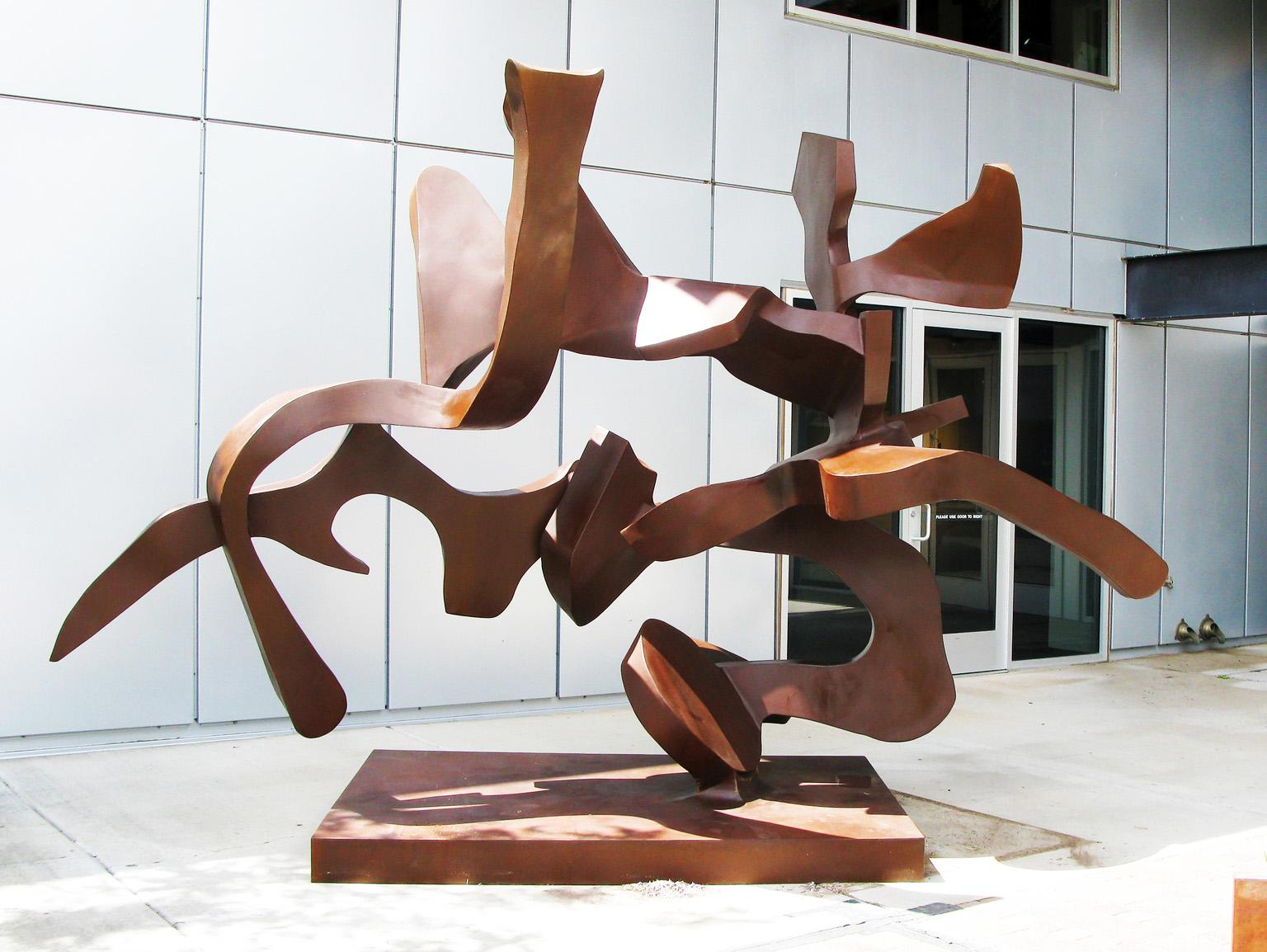 """""""Perfect Imbalance"""", Abstract, Steel Metal Sculpture by Bill Barrett"""