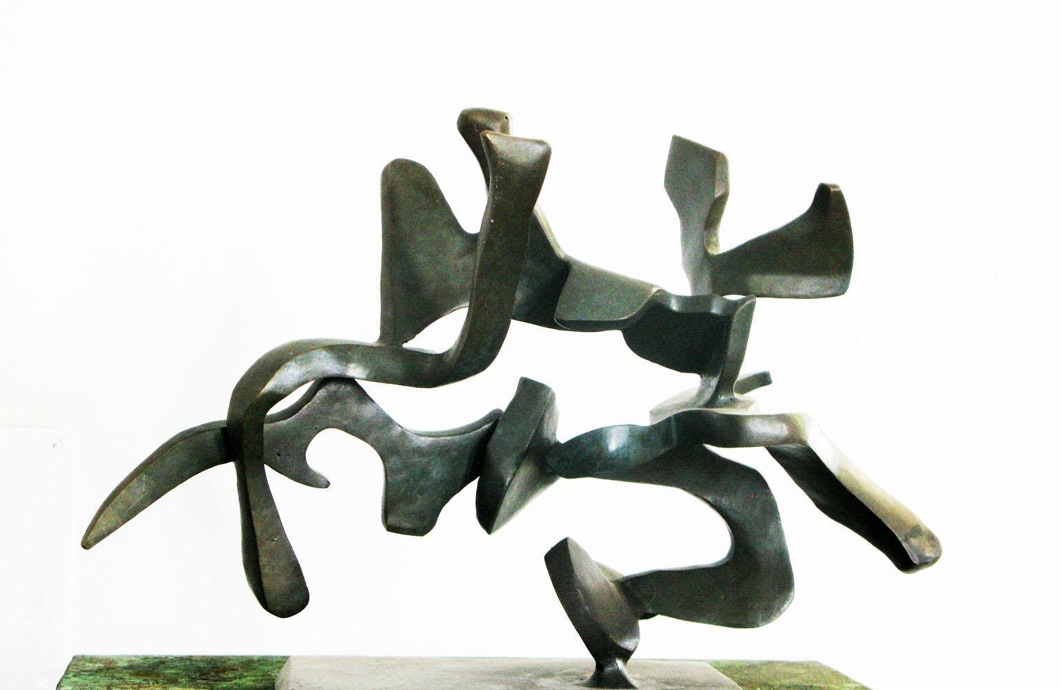 """Perfect Imbalance (model)"", Abstract, Bronze Metal Sculpture by Bill Barrett"