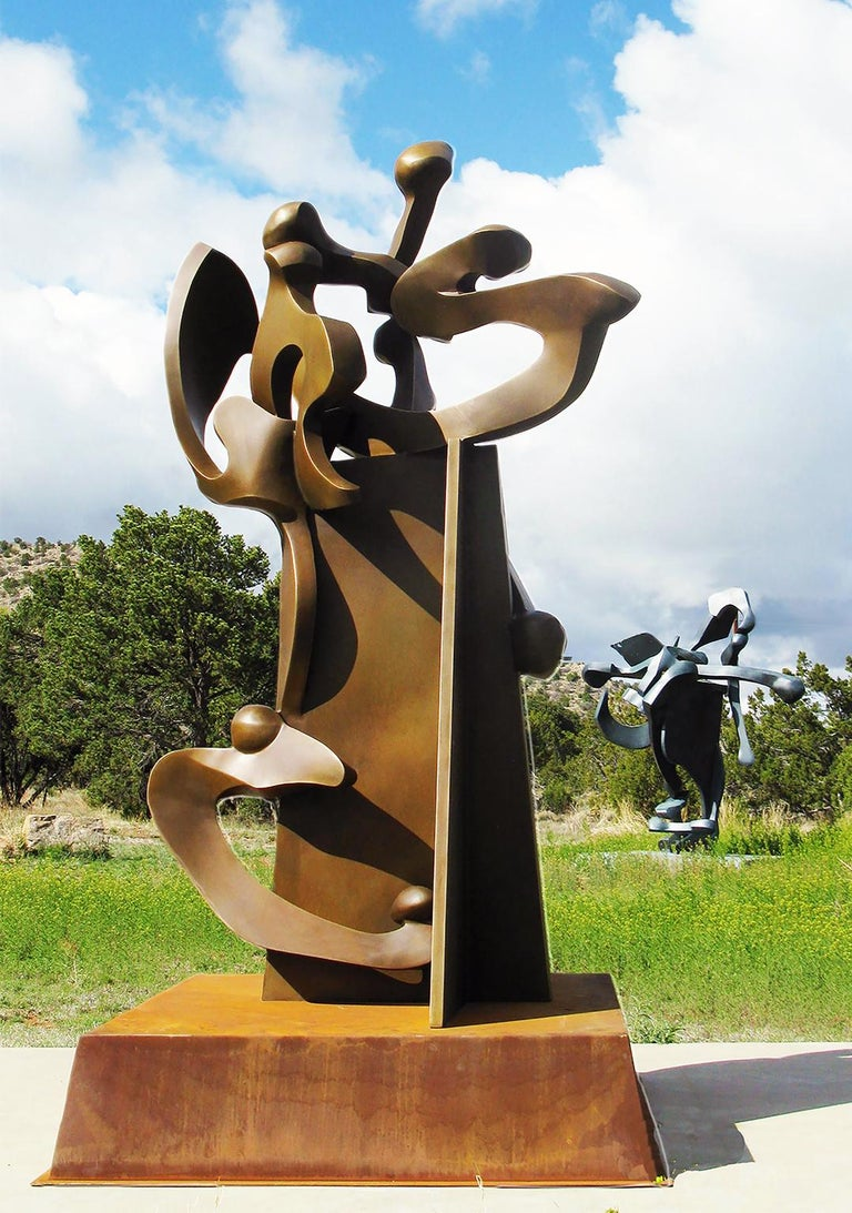 """""""Pinnacle XIX"""" by Bill Barrett Fabricated bronze  Bill Barrett is considered a central figure in the second generation of American metal sculptors and is internationally known for his abstract sculptures in steel, aluminum and bronze.  Bronze,"""