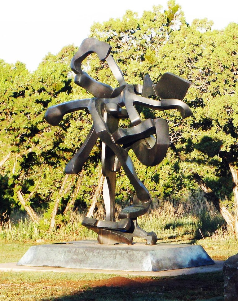 """""""Sojourner"""" by Bill Barrett Fabricated bronze  Bill Barrett is considered a central figure in the second generation of American metal sculptors and is internationally known for his abstract sculptures in steel, aluminum and bronze.  Bronze, Metal,"""
