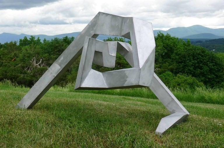Untitled, 1973 - Gray Abstract Sculpture by Bill Barrett
