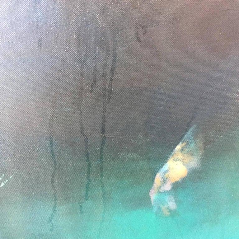 Morphosis II underwater painting , blue painting , sea painting, people painting For Sale 2