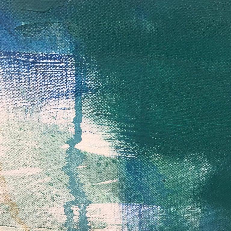 Morphosis II underwater painting , blue painting , sea painting, people painting For Sale 3