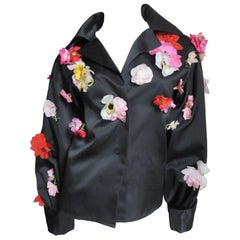 Bill Blass 1970s New Flower Covered Shirt or Jacket