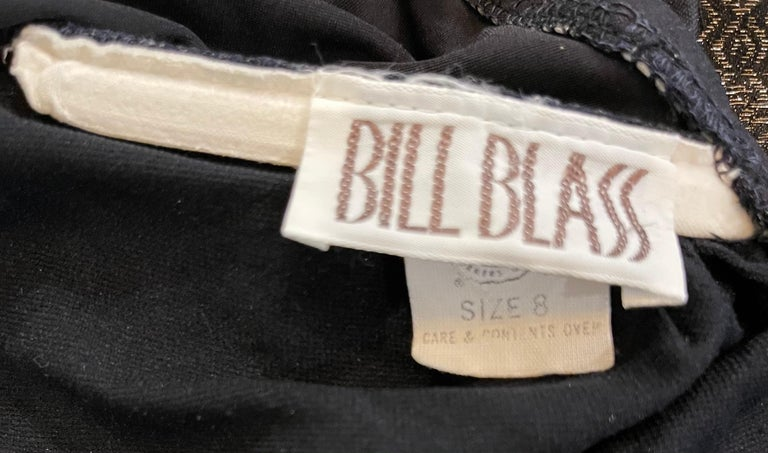 Bill Blass 1990s Black Sexy Cut Out Size 6 / 8 One Piece 90s Swimsuit Bodysuit In Excellent Condition For Sale In Chicago, IL