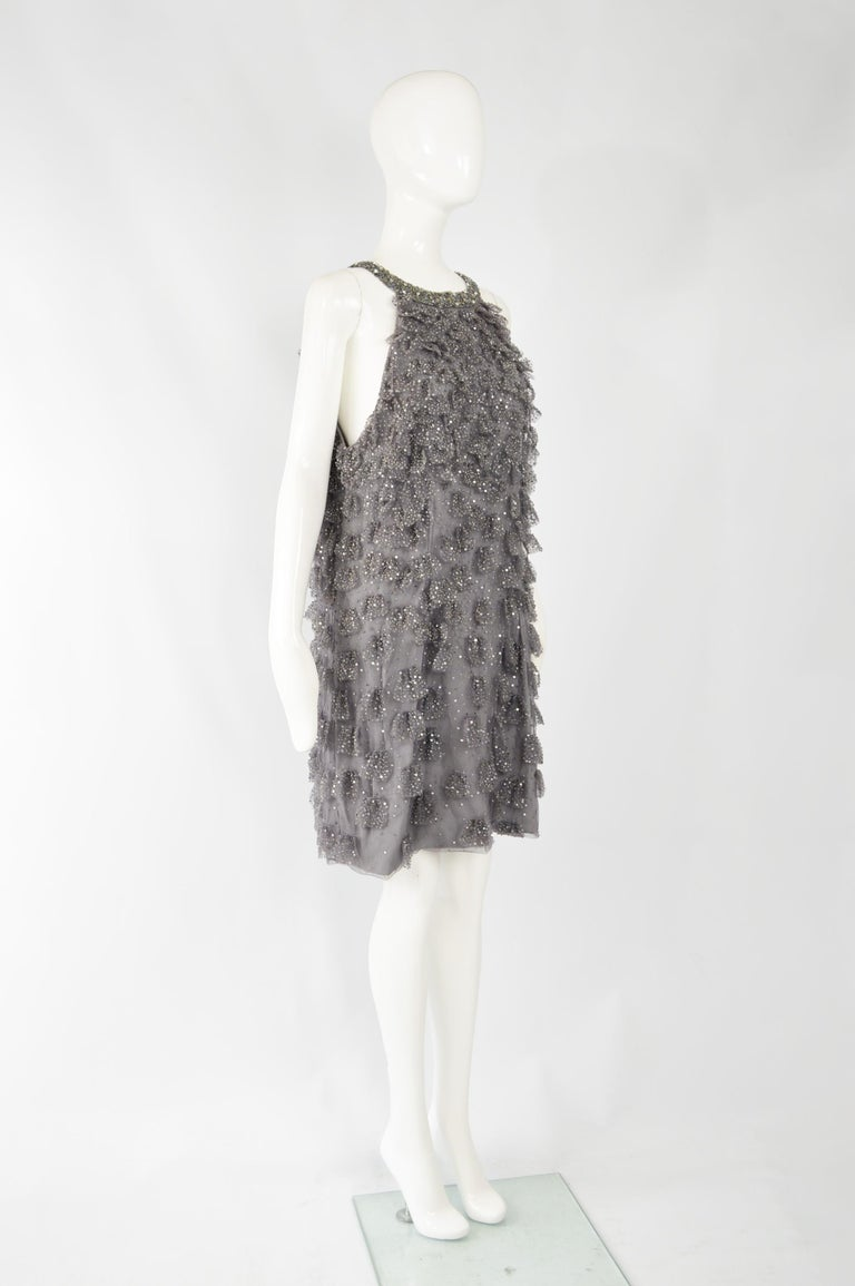 Bill Blass Beaded Tulle Party Dress For Sale 1