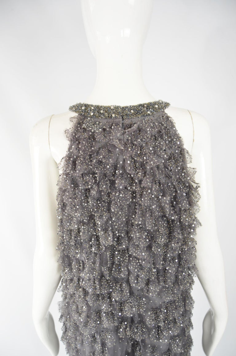 Bill Blass Beaded Tulle Party Dress For Sale 2