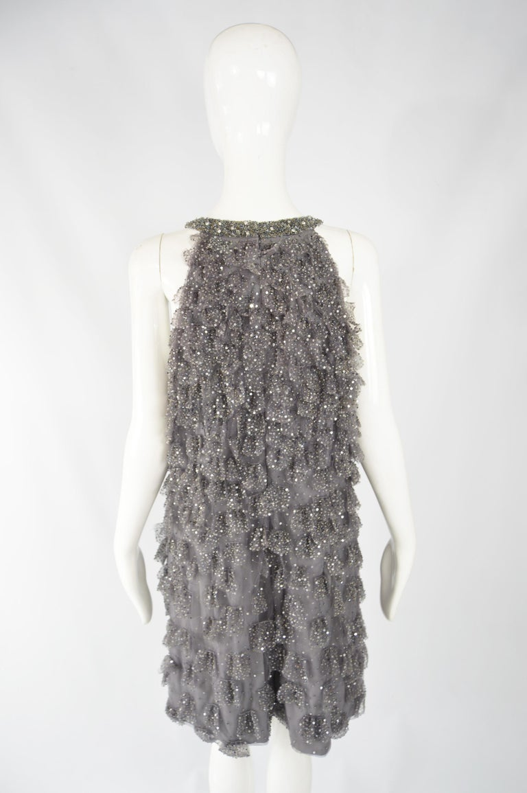 Bill Blass Beaded Tulle Party Dress For Sale 3