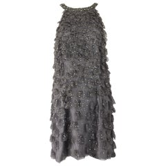 Bill Blass Beaded Tulle Party Dress