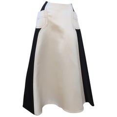 Bill Blass Black & White Satin Ball Gown Skirt