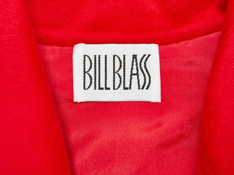 Bill Blass Double Face Cashmere Coat with Smocking Detail For Sale 2