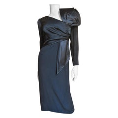 Bill Blass Dress with Dramatic Bow 1980s