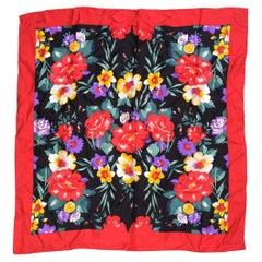 Bill Blass Floral Spring Silk Square Neckerchief