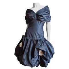 Bill Blass Flower Applique Dress 1980s