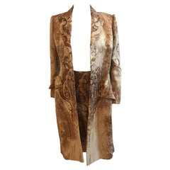 Bill Blass Paisley Print Jacket and Skirt Set