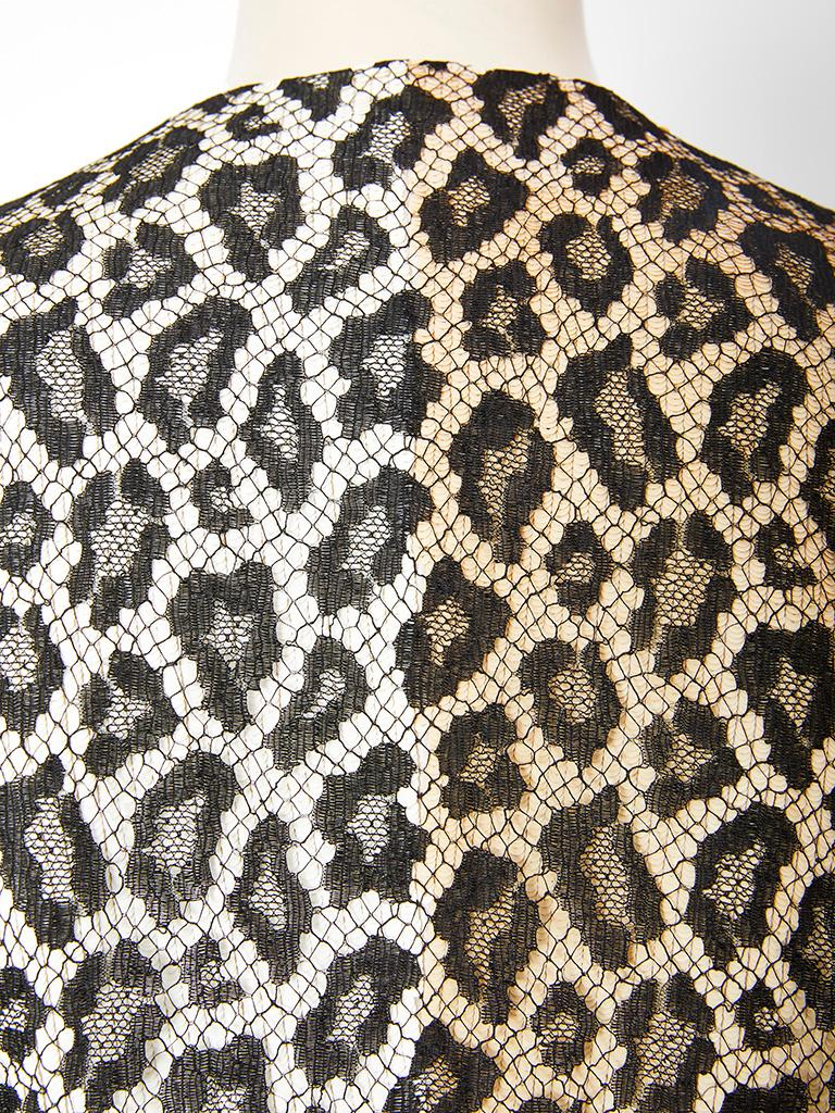 Women's Bill Blass  Leopard Pattern Lace and Sequined Evening Cardigan For Sale