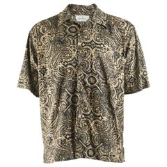 Bill Blass Mens Silk Batik Print Shirt