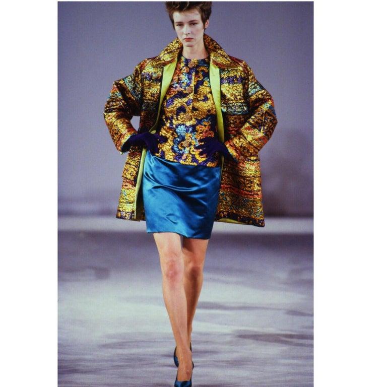 Bill Blass Metallic Brocade Jacket, 1990s For Sale 5