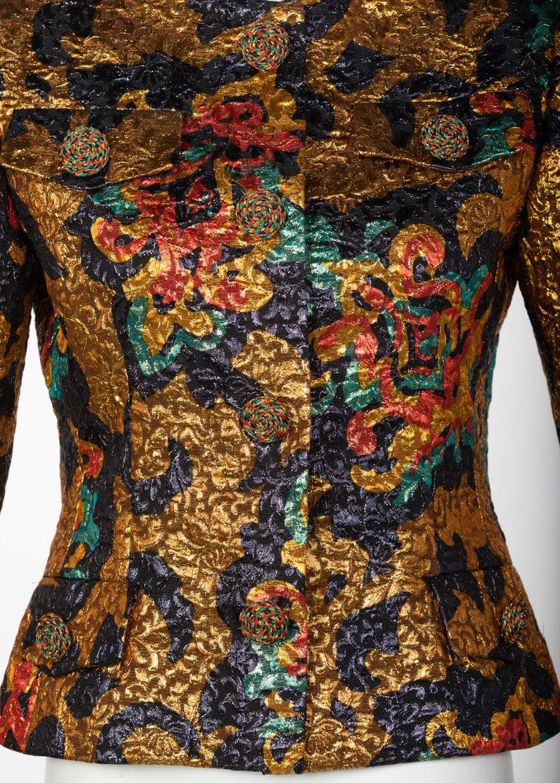 Bill Blass Metallic Brocade Jacket, 1990s For Sale 1