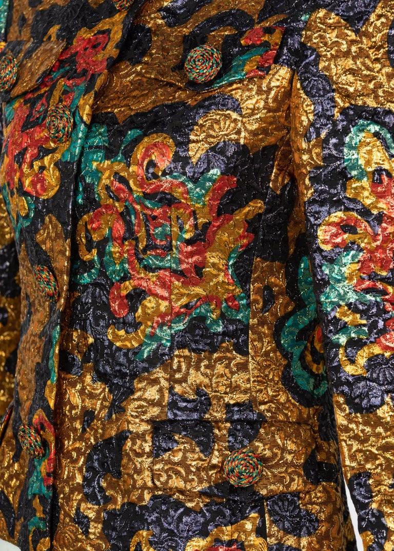 Bill Blass Metallic Brocade Jacket, 1990s For Sale 2