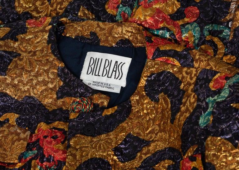 Bill Blass Metallic Brocade Jacket, 1990s For Sale 4