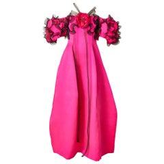 Bill Blass Organza Evening Gown