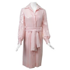 Bill Blass Pink Sequin Shirtdress
