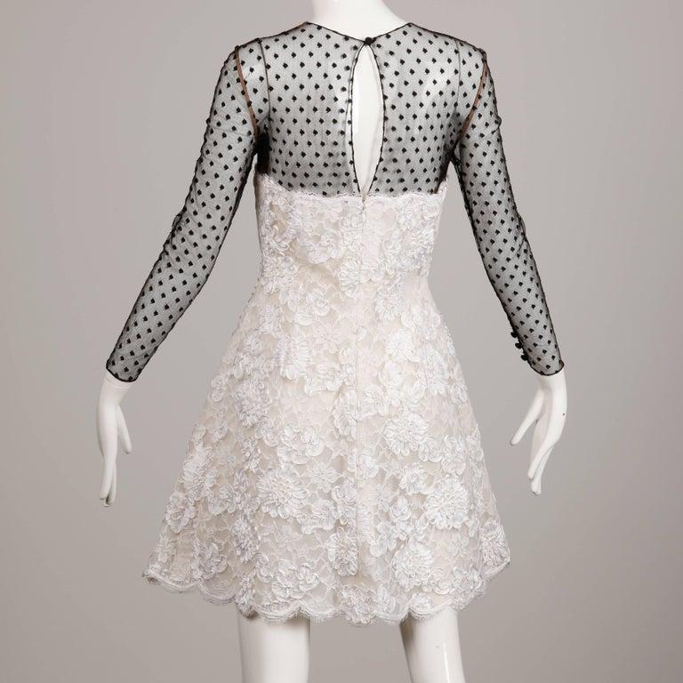 Women's Bill Blass Vintage Lace Dress For Sale