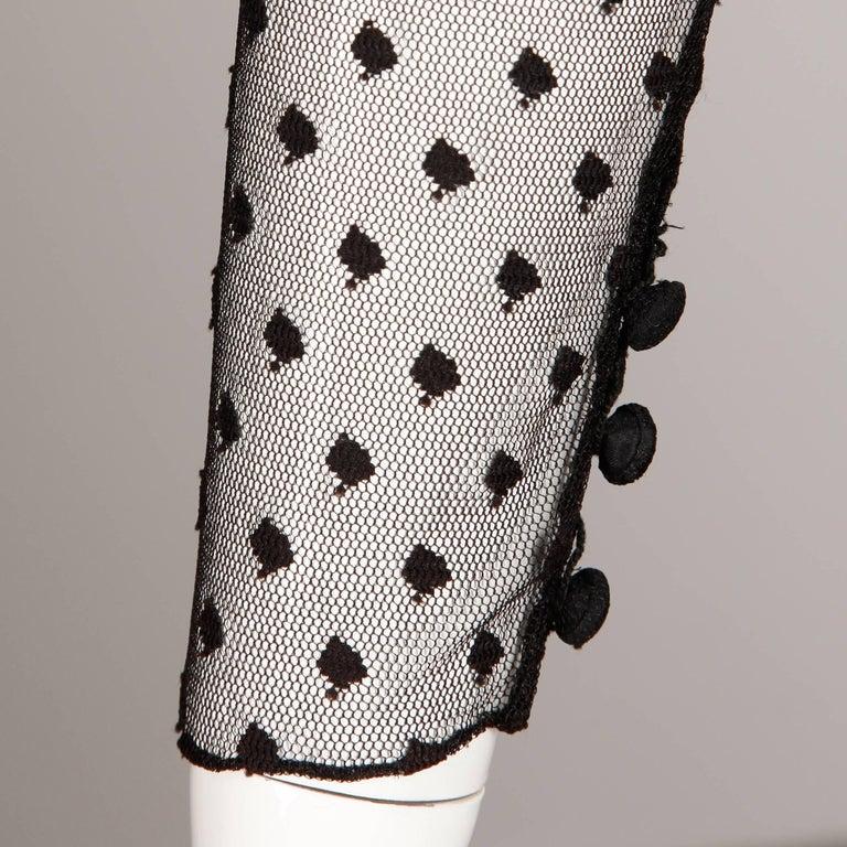 Bill Blass Vintage Lace Dress For Sale 3