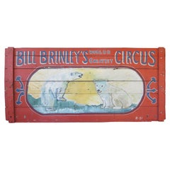 Bill Brinley Circus Sign with Polar Bears