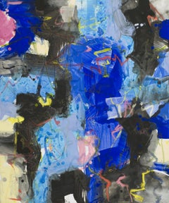 Bleu et Noir, Mixed Media on Canvas