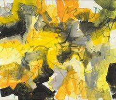 Orange Satori (Satori VIII), Mixed Media on Canvas