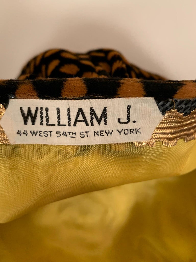 Women's or Men's Bill Cunningham William J Polka Dot Velvet Hat in the Original William J Hatbox For Sale