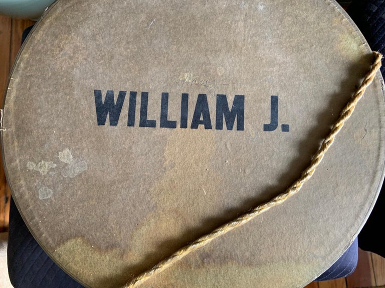Bill Cunningham William J Polka Dot Velvet Hat in the Original William J Hatbox For Sale 2