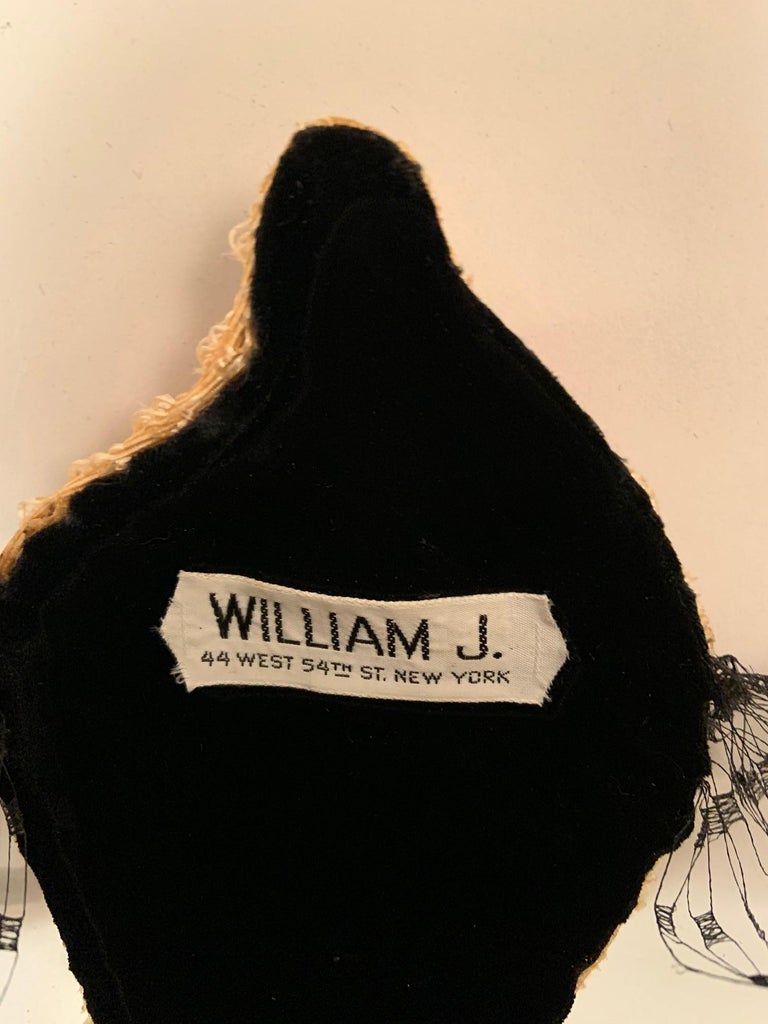 Bill Cunningham William J Veiled Cocktail Hat For Sale 5