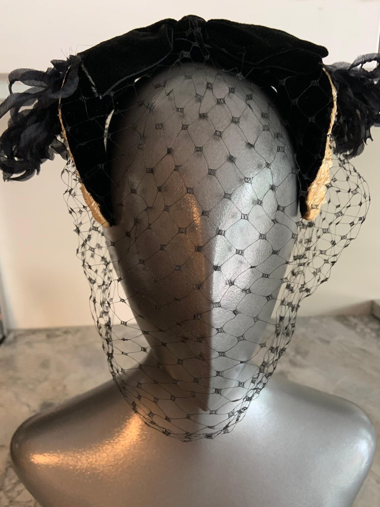 Bill Cunningham William J Veiled Cocktail Hat For Sale 1