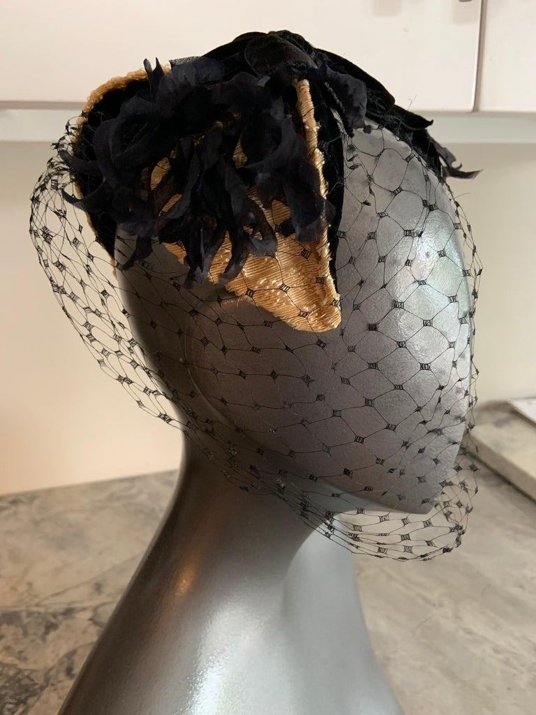 Bill Cunningham William J Veiled Cocktail Hat For Sale 2