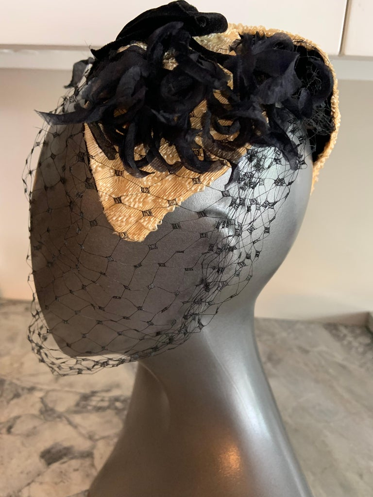 Bill Cunningham William J Veiled Cocktail Hat For Sale 3