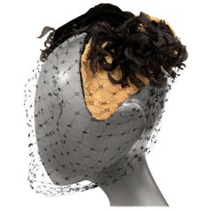 Bill Cunningham William J Veiled Cocktail Hat