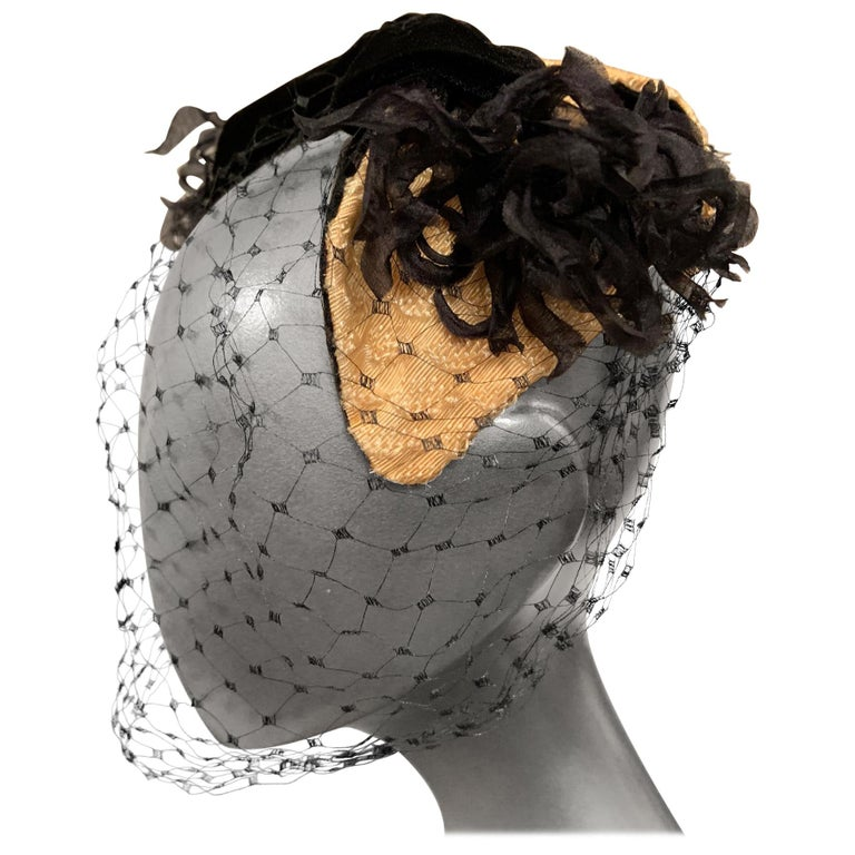 Bill Cunningham William J Veiled Cocktail Hat For Sale