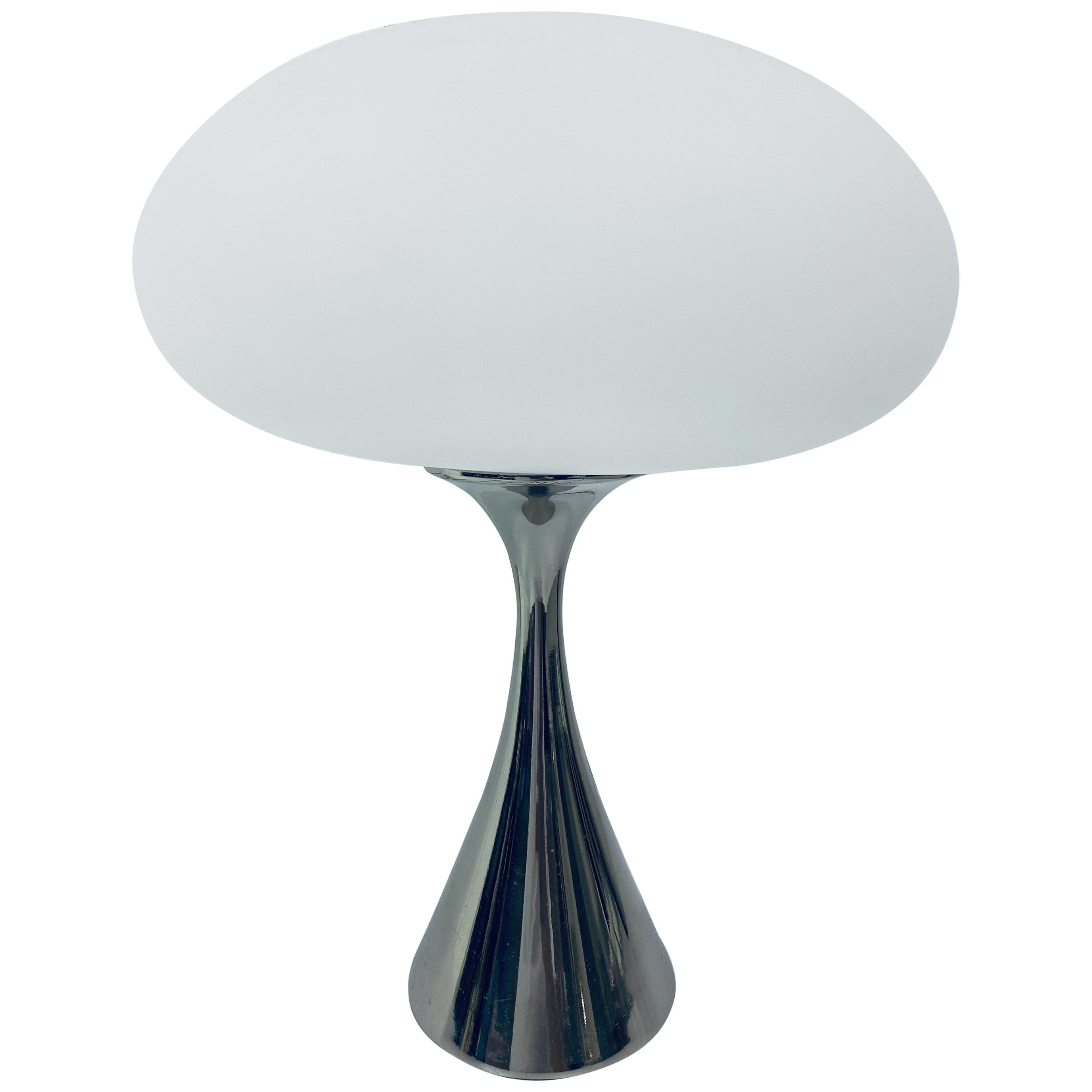 Bill Curry Polished Chrome Mushroom Table or Desk Lamp for Laurel