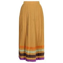 Bill Gibb 1970s Accordion Pleat Wool Skirt